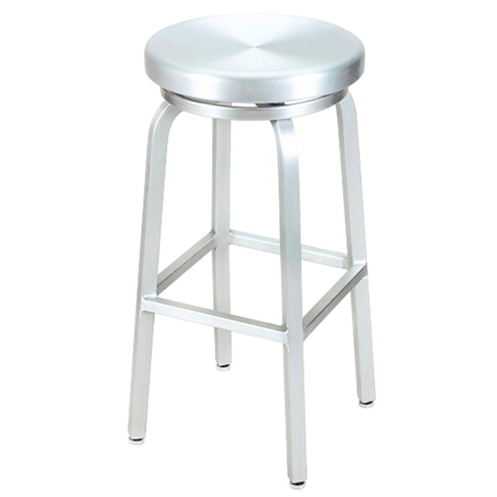 aluminum bar stools backless photo - 1