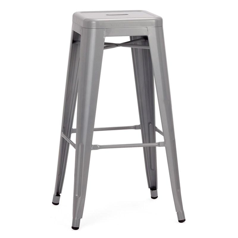 aluminum bar stools backless photo - 10