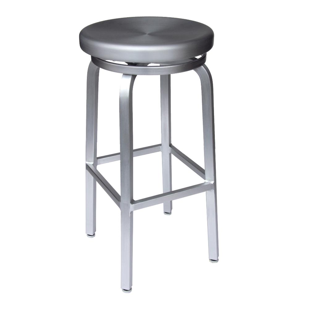 aluminum bar stools backless photo - 2