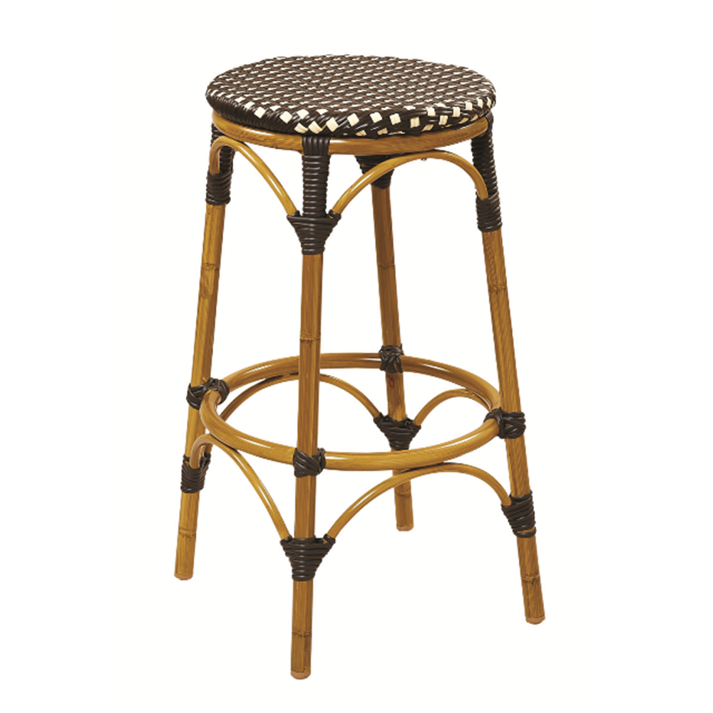 aluminum bar stools backless photo - 3