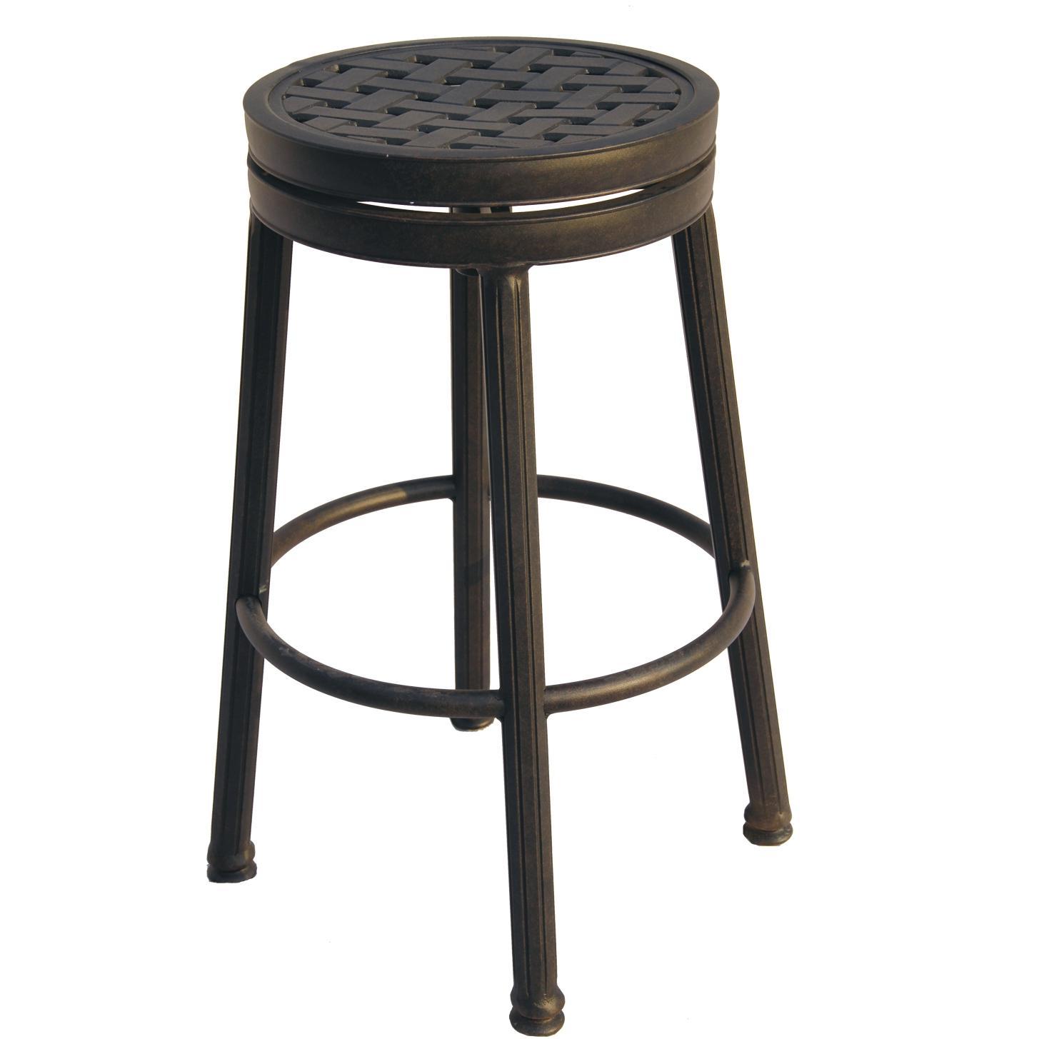 aluminum bar stools backless photo - 7