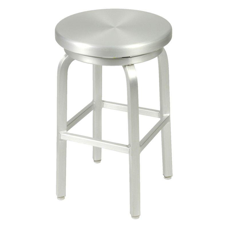 aluminum bar stools backless photo - 8