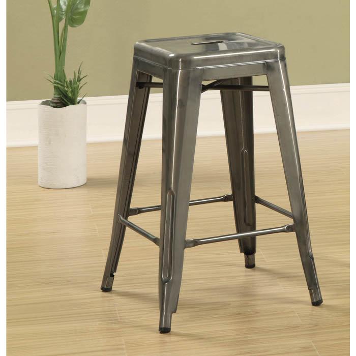aluminum bar stools backless photo - 9