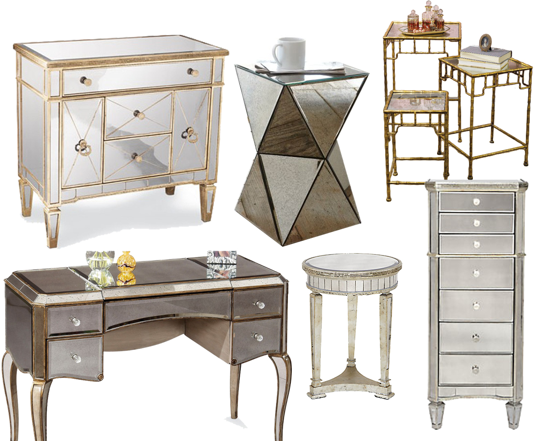 amelie mirrored bedroom furniture photo - 1