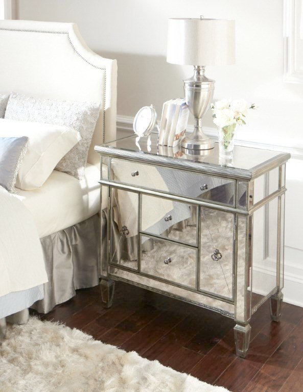 amelie mirrored bedroom furniture photo - 5