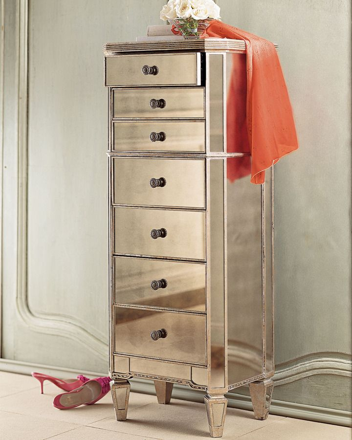 amelie mirrored bedroom furniture photo - 7