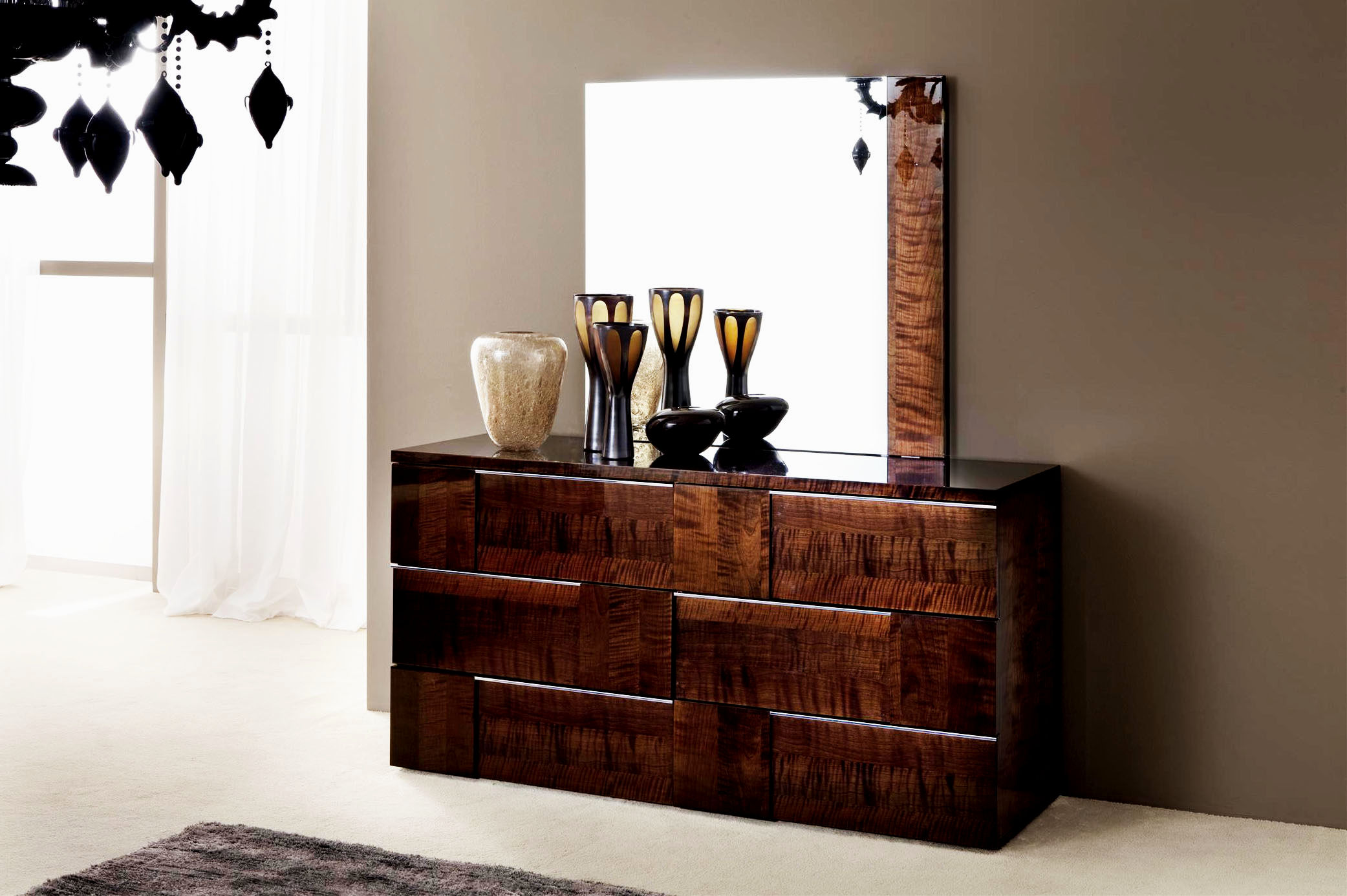 amelie mirrored bedroom furniture photo - 8