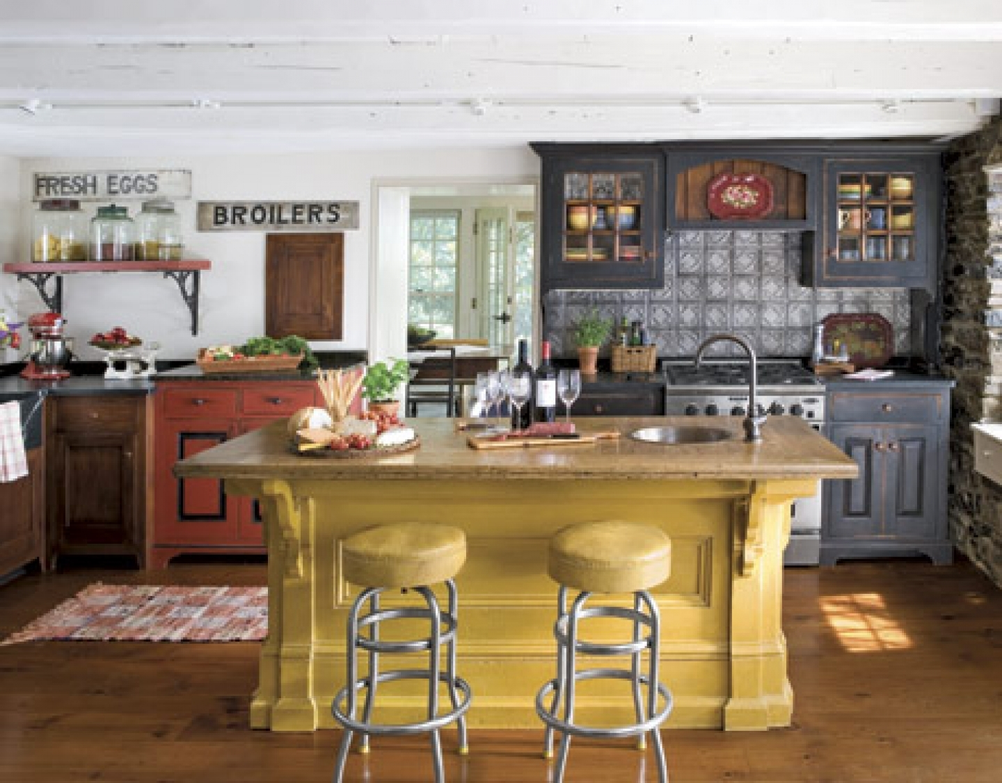 american country kitchen designs photo - 8