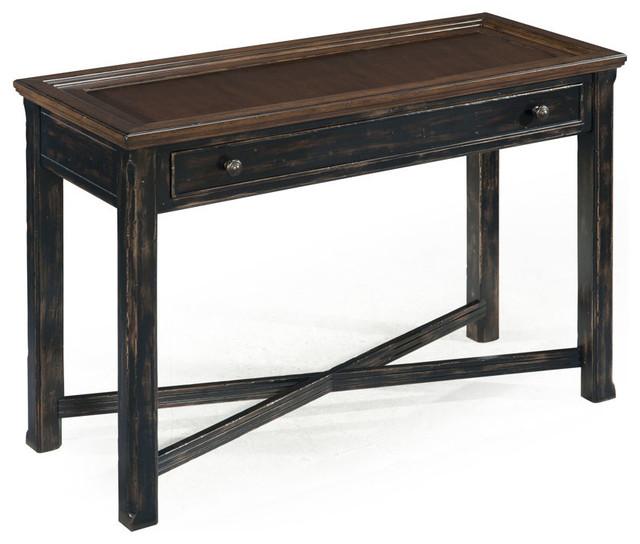 antique black sofa table photo - 7