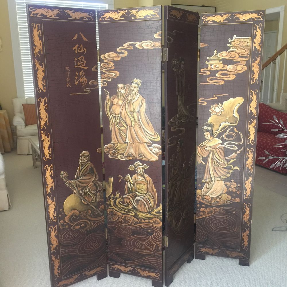 antique chinese screens room dividers photo - 3