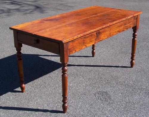 antique kitchen table with drawer photo - 6
