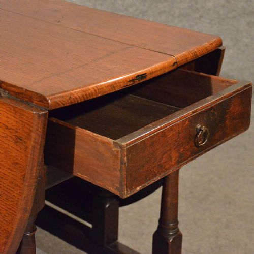 antique kitchen table with drawer photo - 8