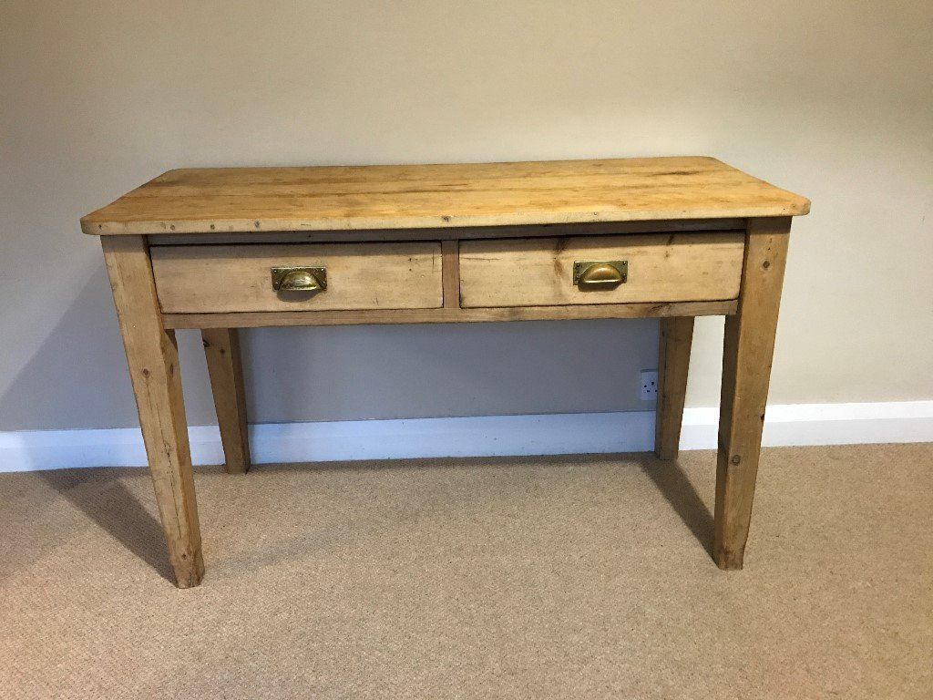 antique kitchen table with drawer photo - 9
