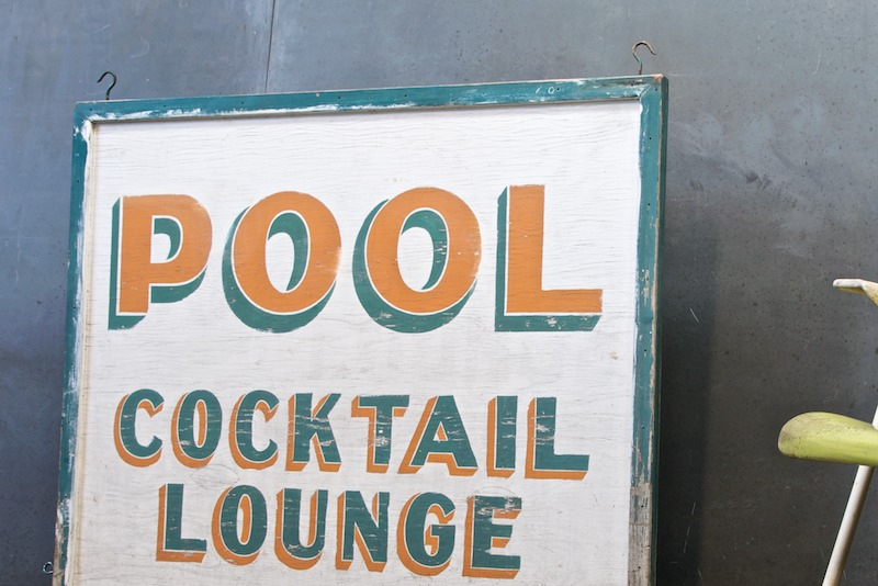 antique swimming pool signs photo - 2