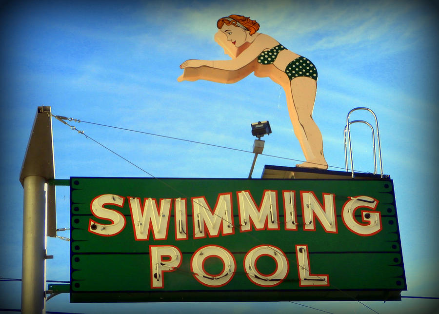 antique swimming pool signs photo - 4