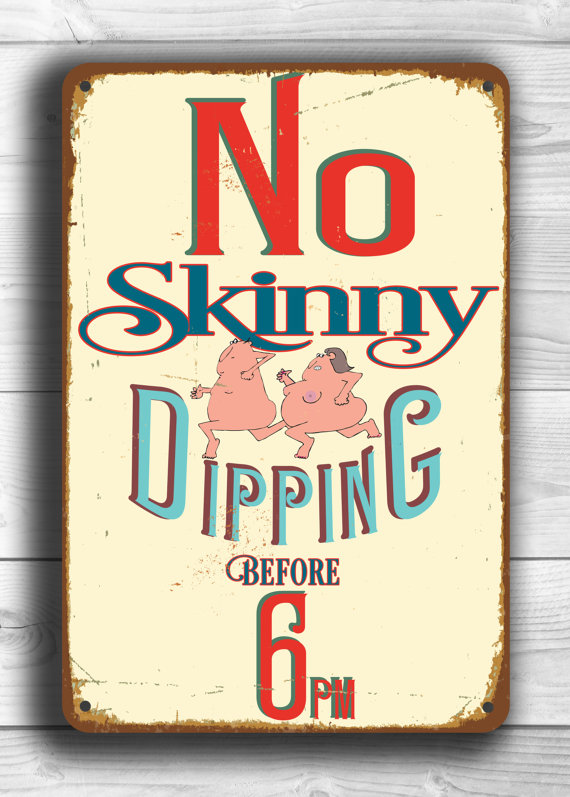 antique swimming pool signs photo - 5