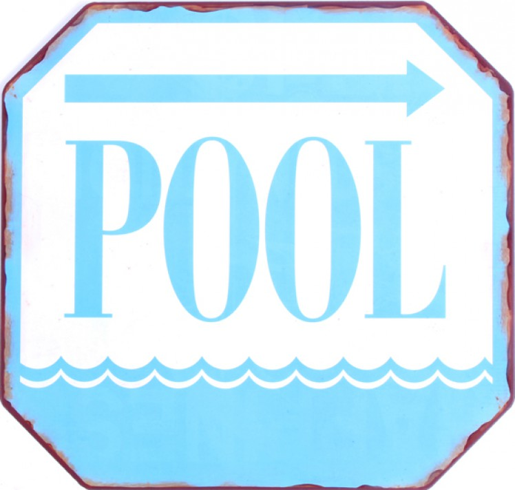 antique swimming pool signs photo - 9