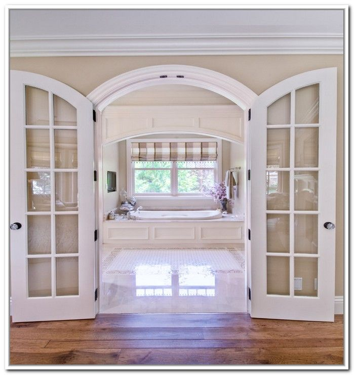 Gentil Arched French Double Doors Photo   2