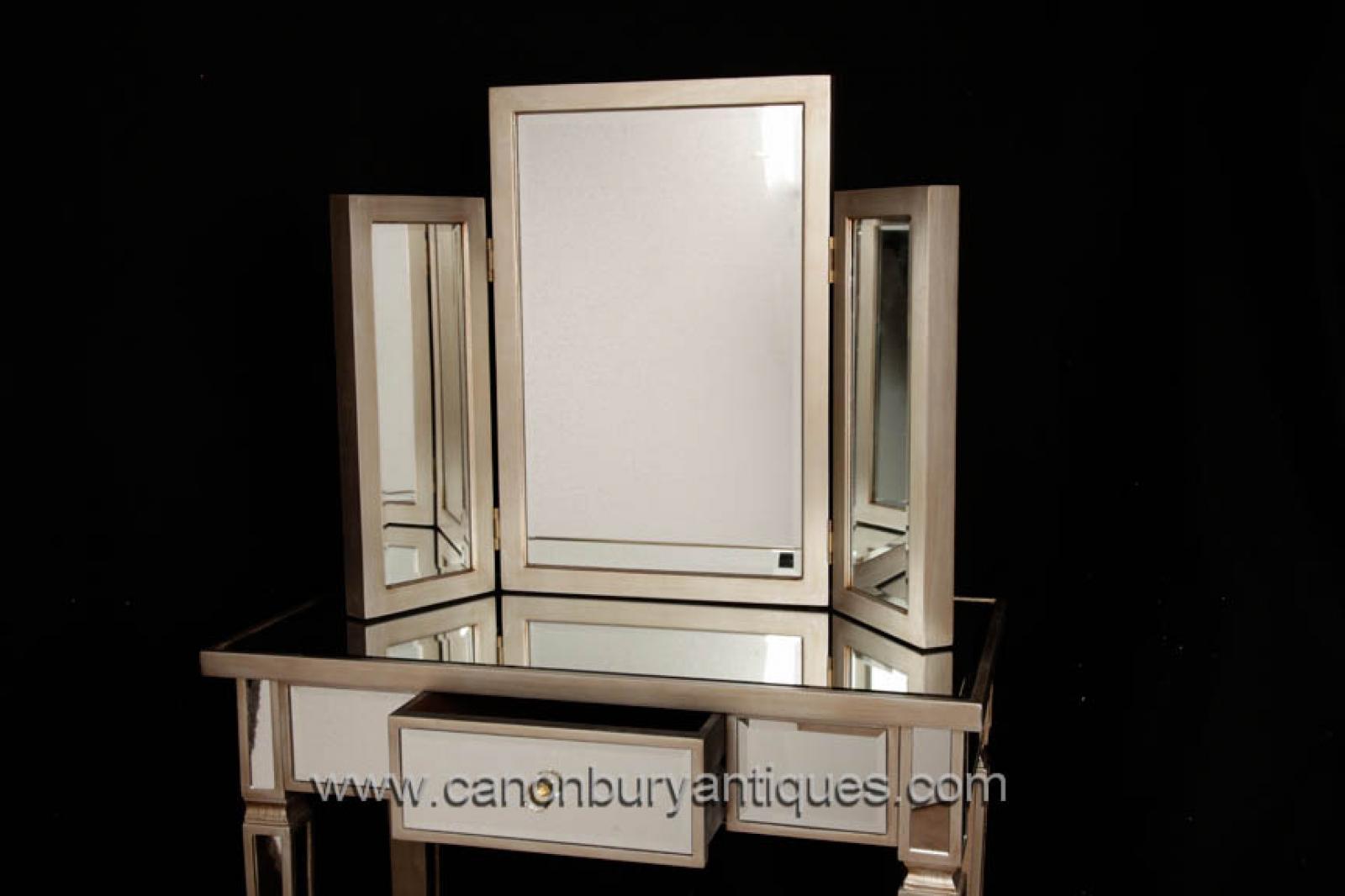 art deco mirrored bedroom furniture photo - 1