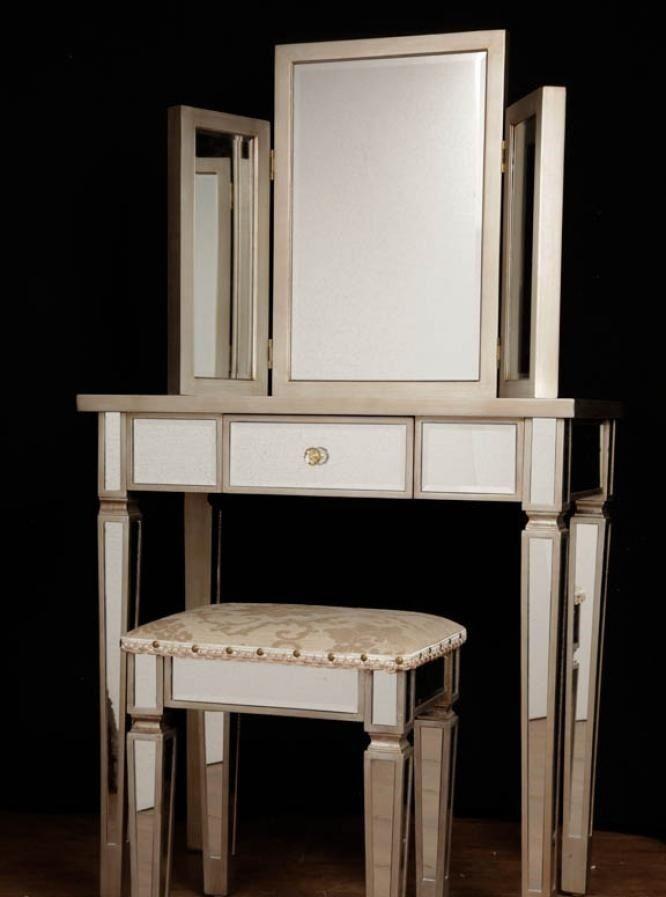 art deco mirrored bedroom furniture photo - 2