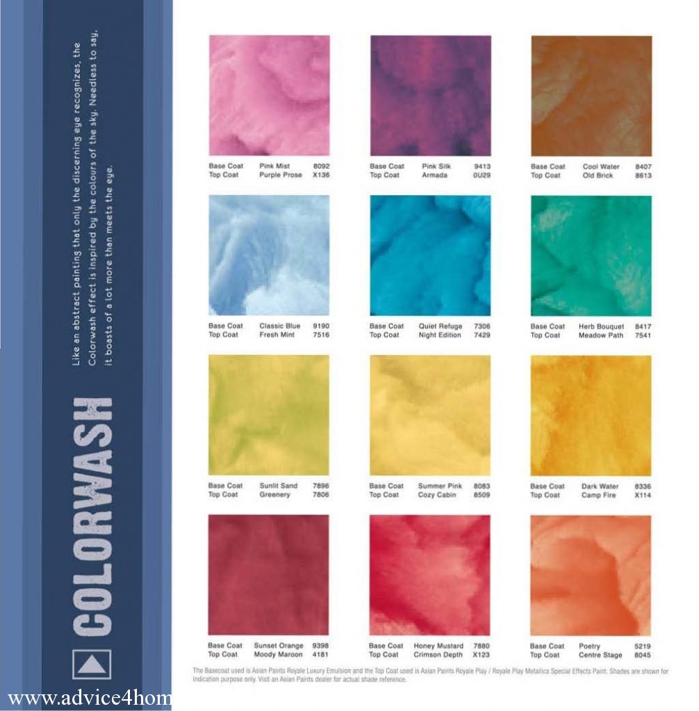 Asian Paints Acrylic Colour Shades