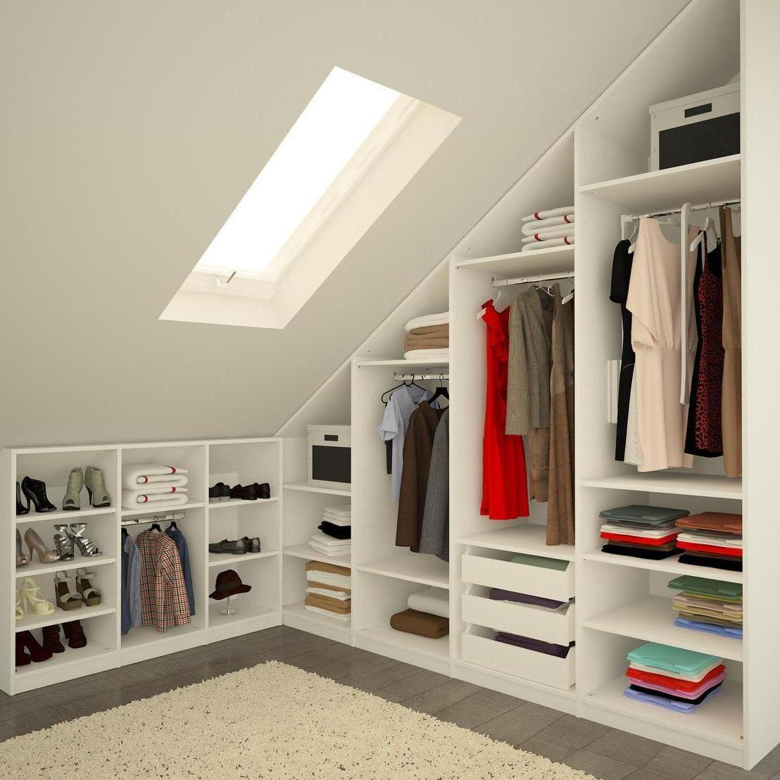 attic bedroom closet photo - 10