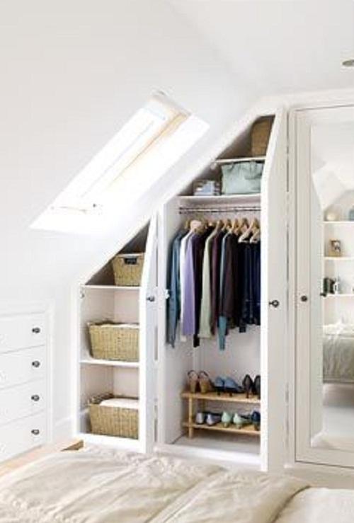 attic bedroom closet photo - 2