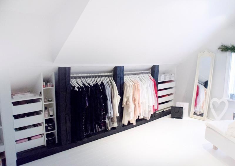 attic bedroom closet photo - 3