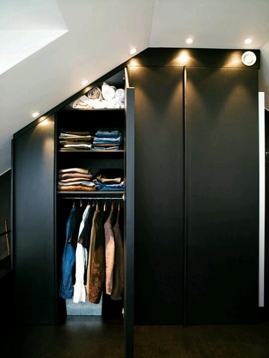 attic bedroom closet photo - 4