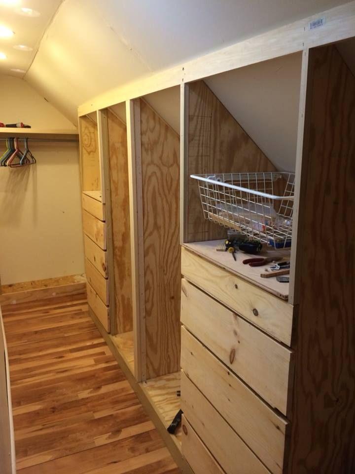 attic bedroom closet photo - 8