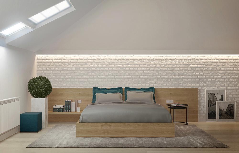 Attic Bedroom Interior Design Photo   4