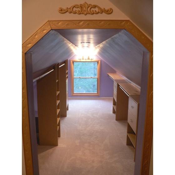 attic walk in closet design photo - 10