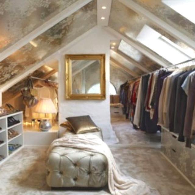 attic walk in closet design photo - 2