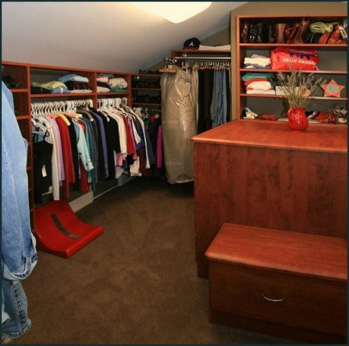 attic walk in closet design photo - 3