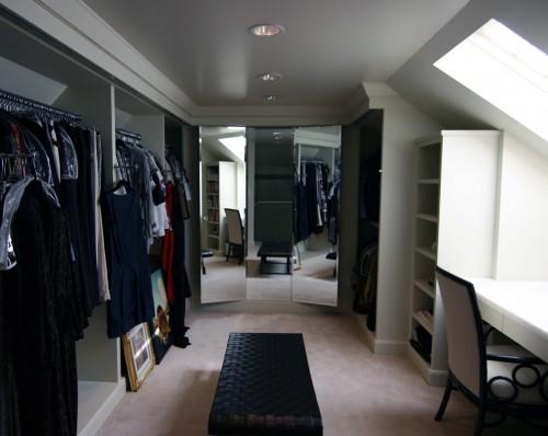 attic walk in closet design photo - 4