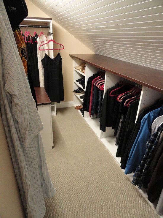 attic walk in closet design photo - 5