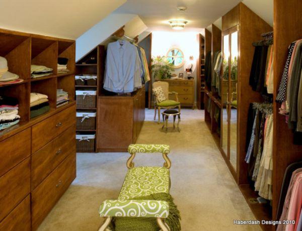 attic walk in closet design photo - 6