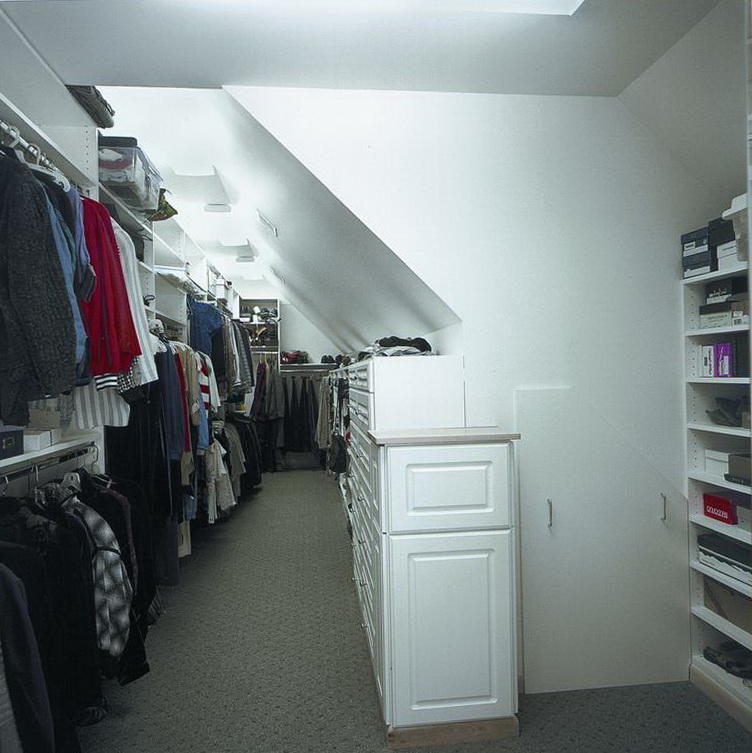 attic walk in closet design photo - 7