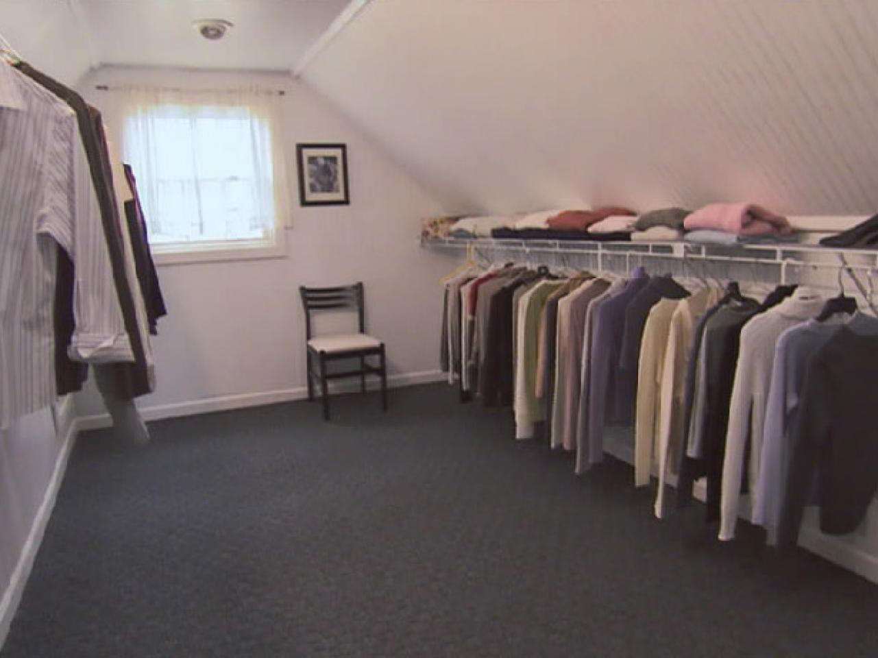 attic walk in closet design photo - 8