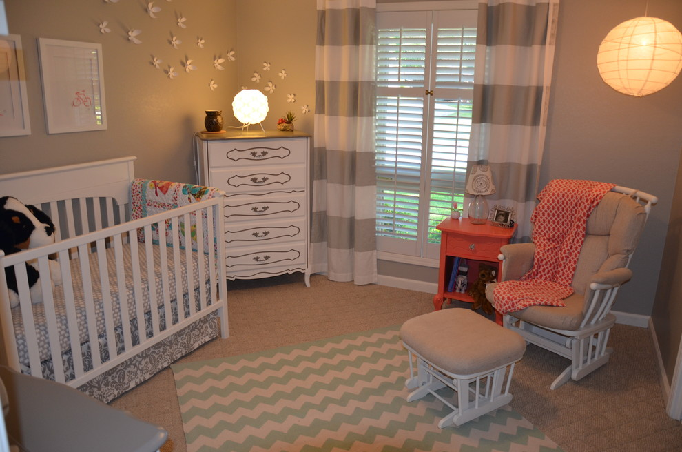 baby boy room with white furniture photo - 1