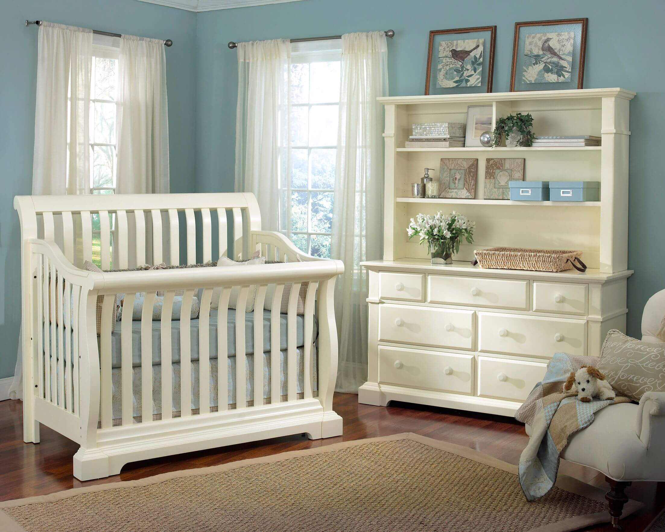 baby boy room with white furniture photo - 4