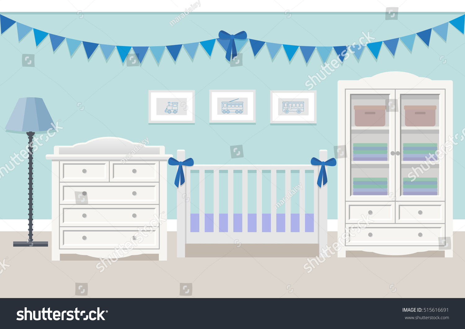 baby boy room with white furniture photo - 7