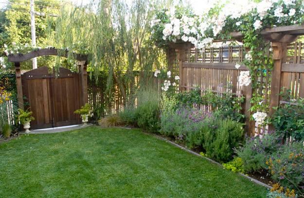 back garden fencing ideas photo - 10