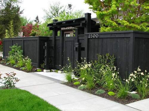 back garden fencing ideas photo - 3