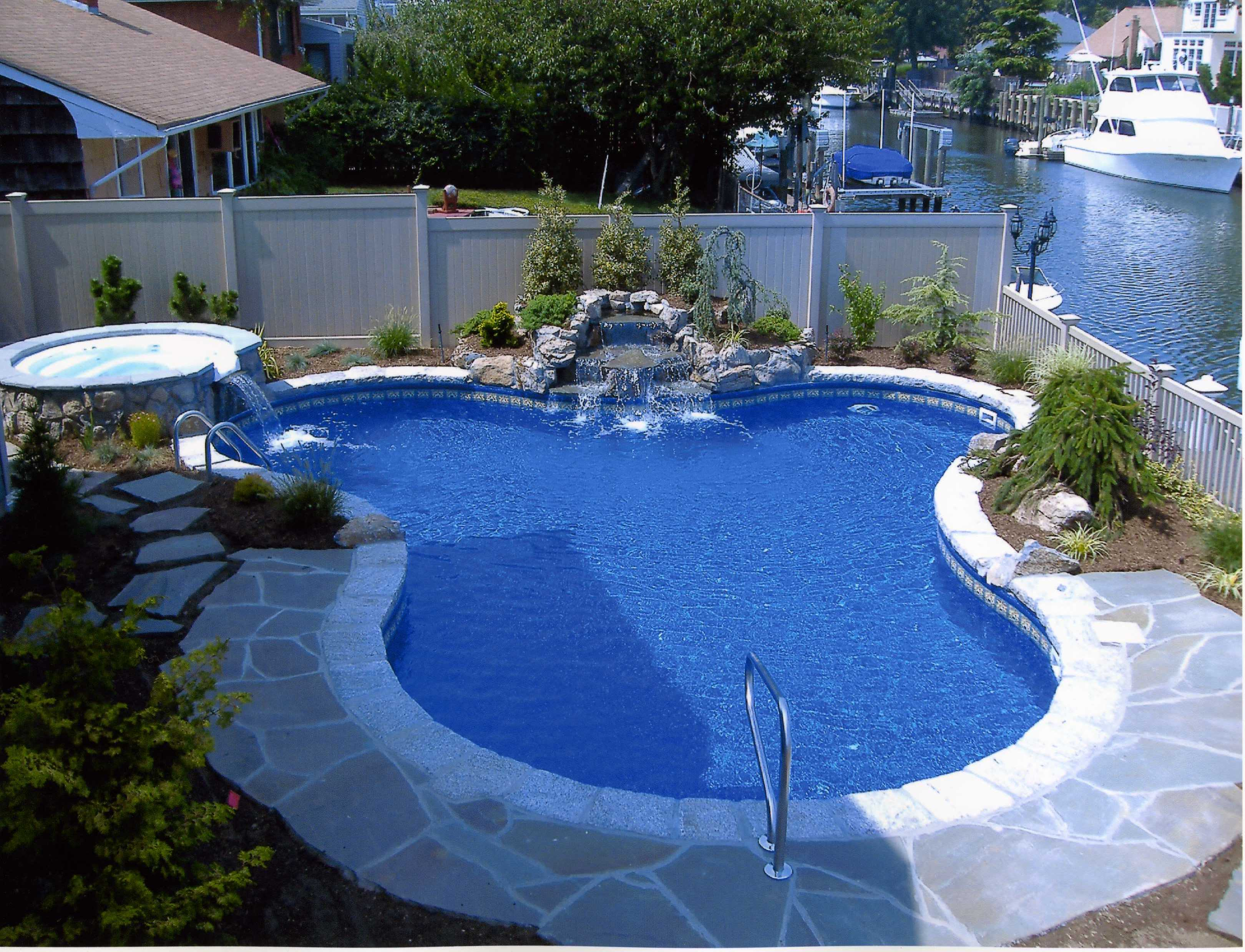 backyard swimming pool designs photo - 2