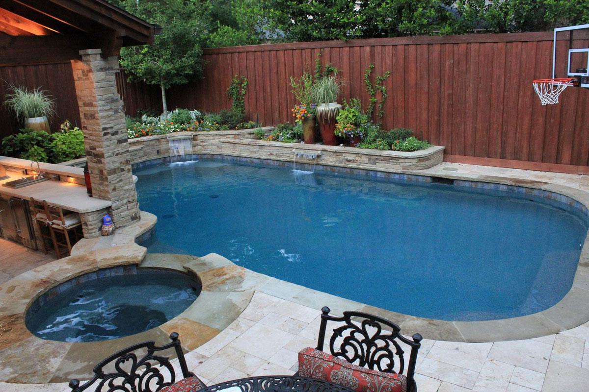 backyard swimming pool designs photo - 4