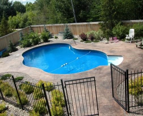 backyard swimming pool designs photo - 9