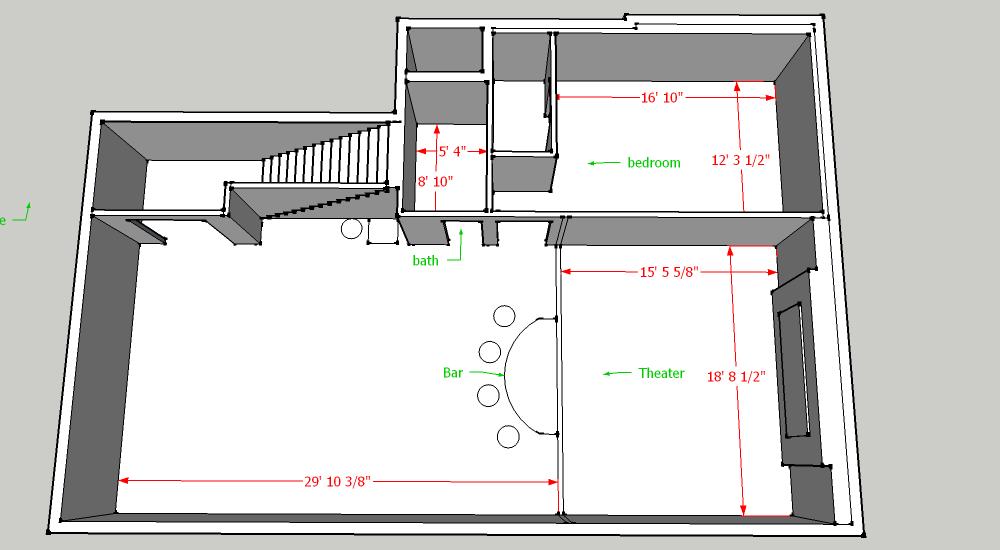 basement layout plans ideas photo - 7