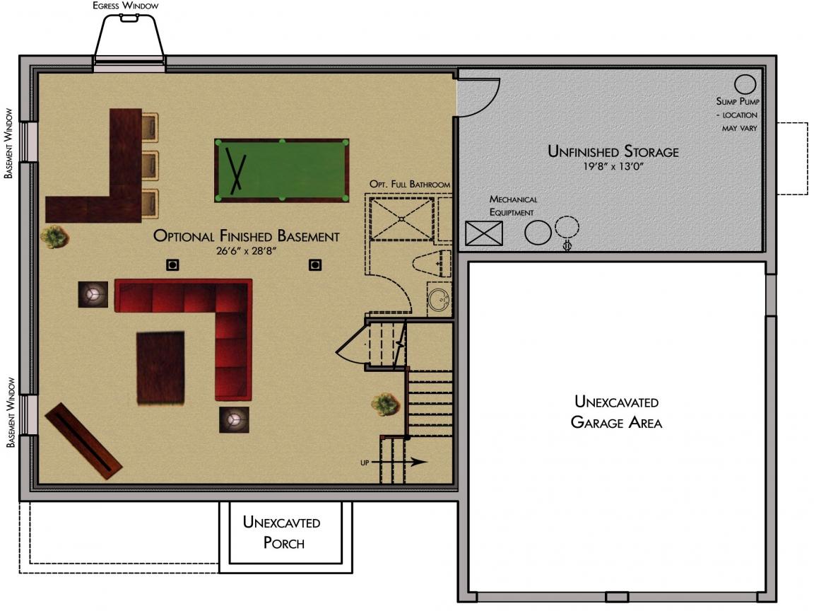basement plans ideas photo - 7