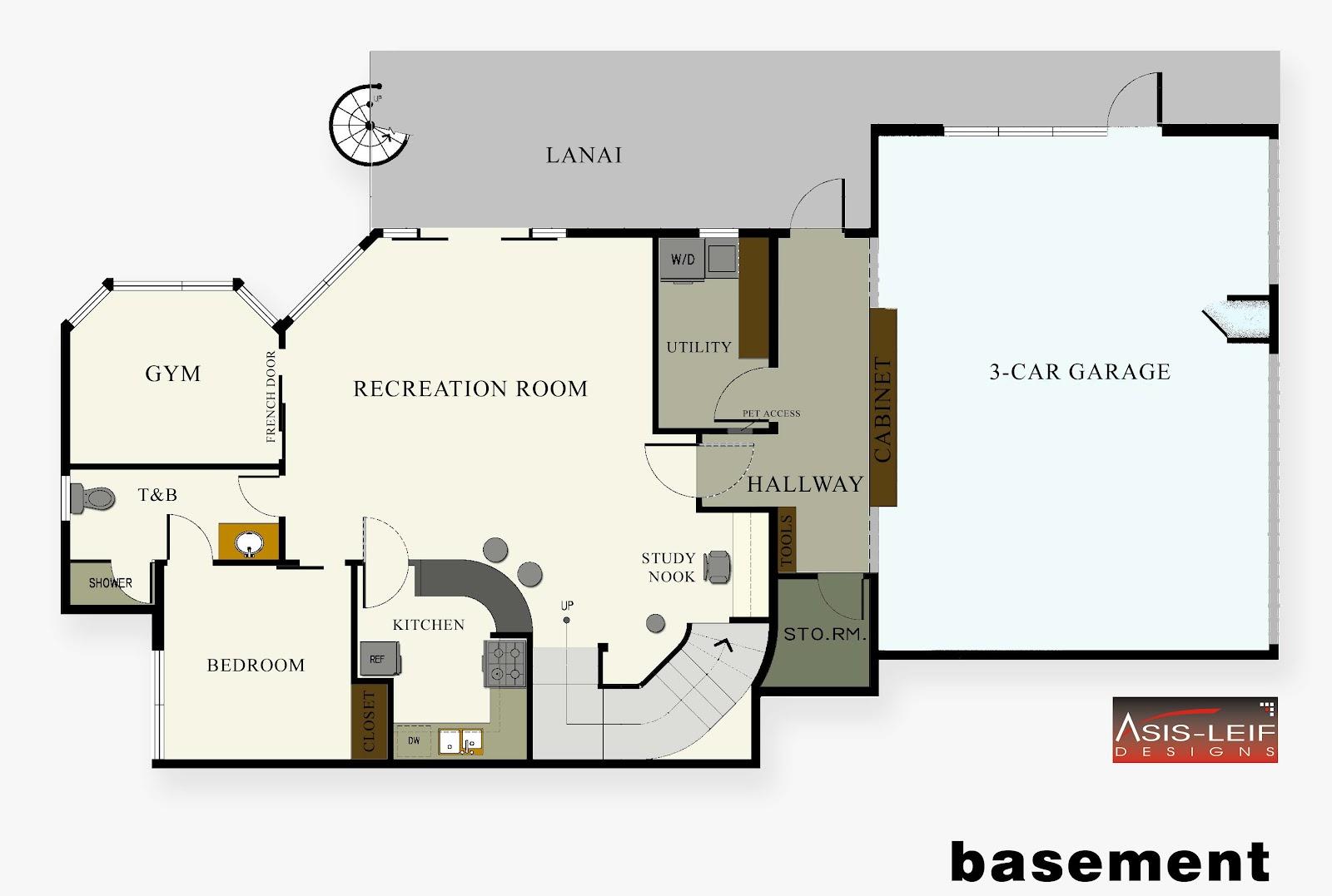 basement plans ideas photo - 9